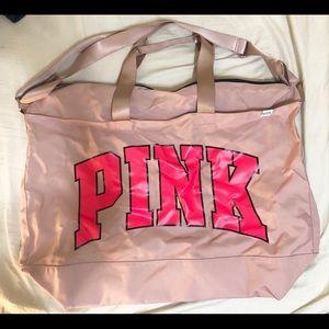 PINK VS XL Getaway/weekender tote bag